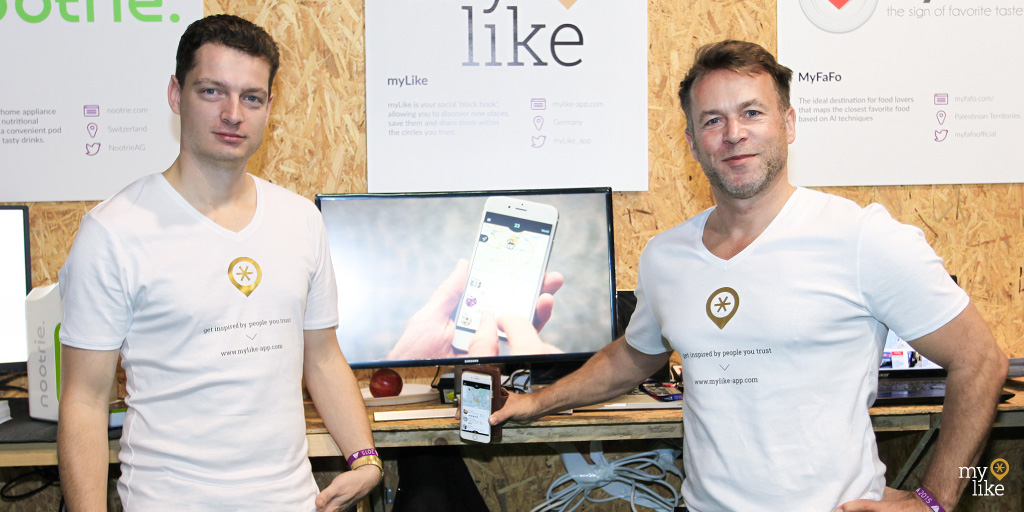 myLike booth at Web Summit 2015