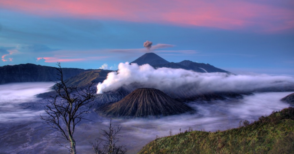 Mount Bromo Volcano in Java, Indonesia