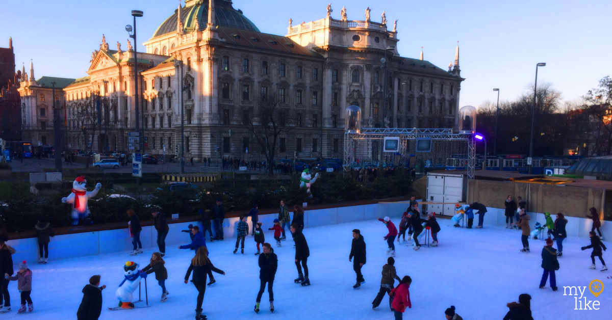 myLike - Ice Skating Munich - Stachus Square
