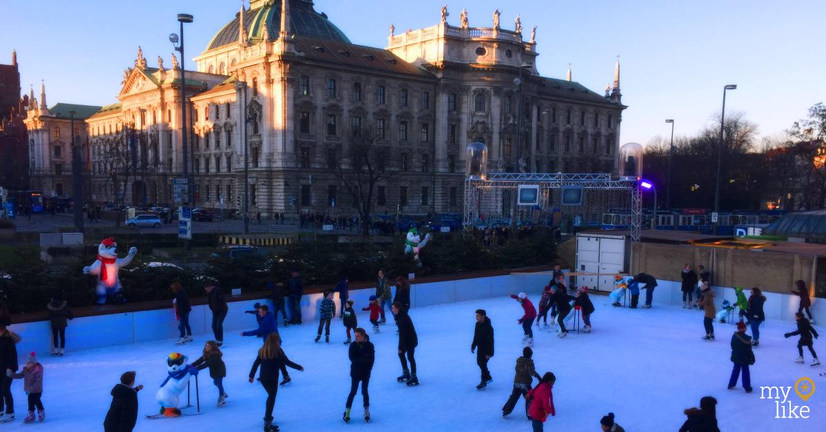 myLike - Ice Skating Munich - Stachus Square