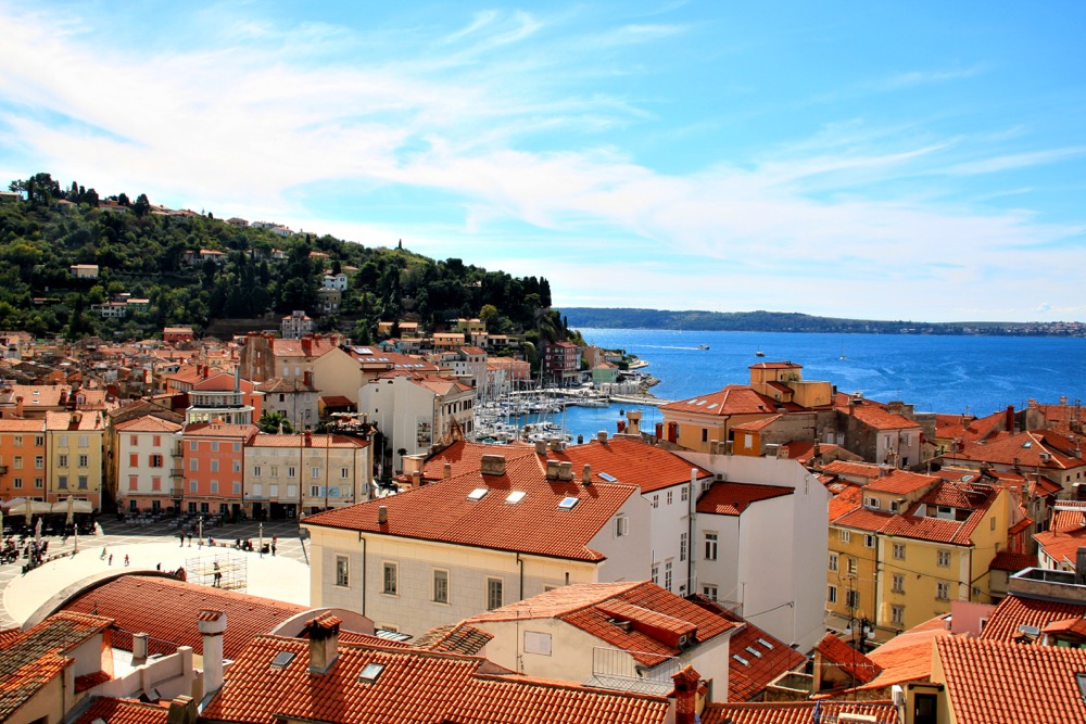 Piran from the above - Top 10 Best Places To See in Slovenia