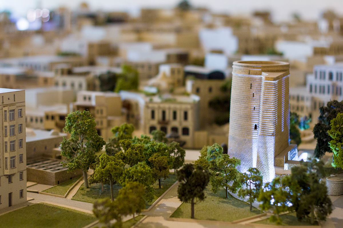 Meidan Tower on the model of Old Town displayed in Palace of Shirvanshahs 1024x683 - Top 9 Things to Do in Baku