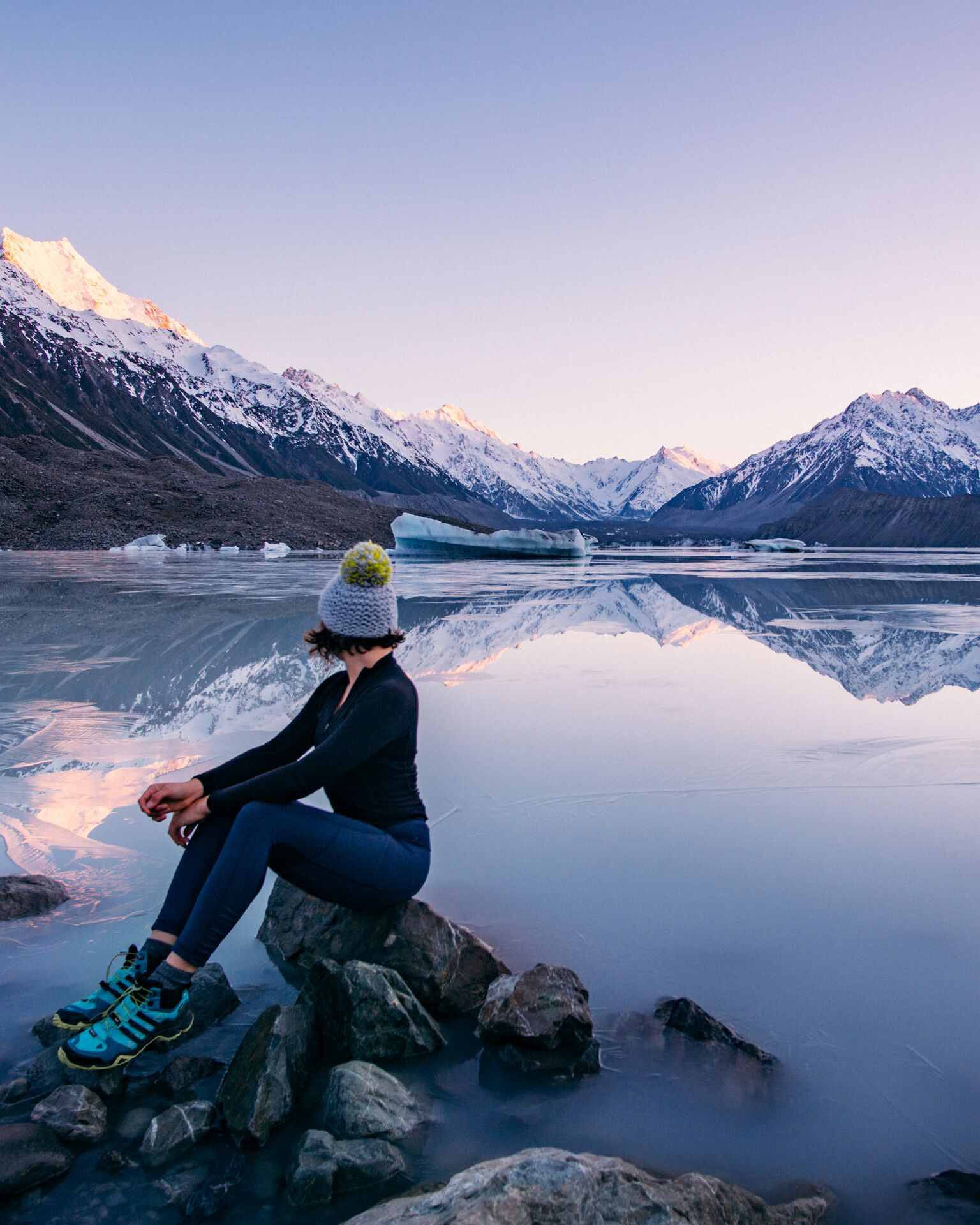 carmen huter new tasman lake 1 819x1024 - Carmen Huter Shares How to Plan Your Next Trip Like a Pro